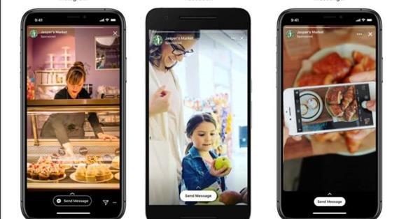Facebook позволил добавлять в Stories Ads кнопку для отправки сообщения
