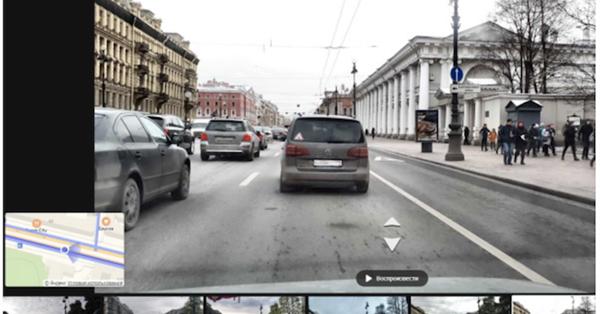 На Яндекс.Картах Санкт-Петербурга появились видео с авторегистраторов