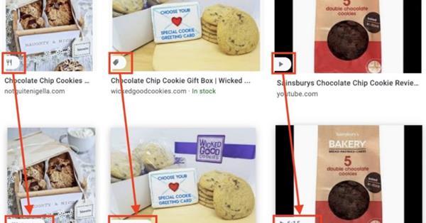 Google обновил ярлыки для товаров, рецептов и видео в поиске по картинкам