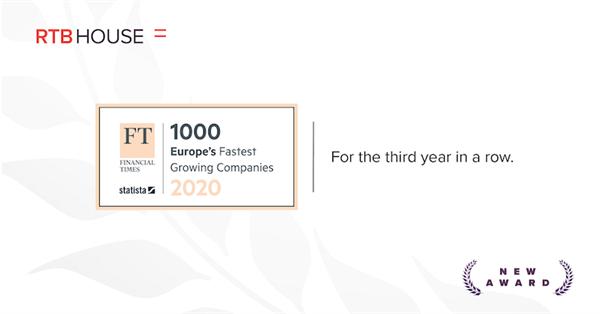 RTB House снова в списке наиболее быстрорастущих  технологических компаний Европы