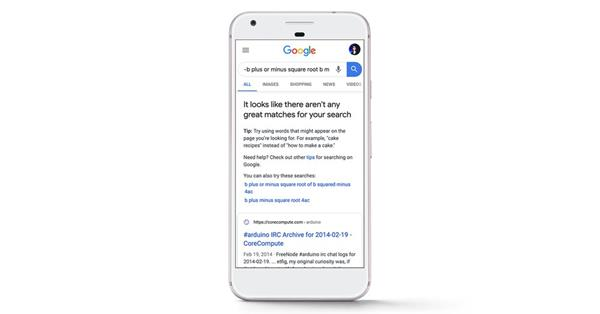 Google сообщит пользователям, если не сможет найти хорошие результаты