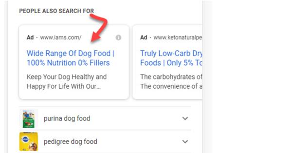 Google снова тестирует рекламу в блоке с похожими запросами