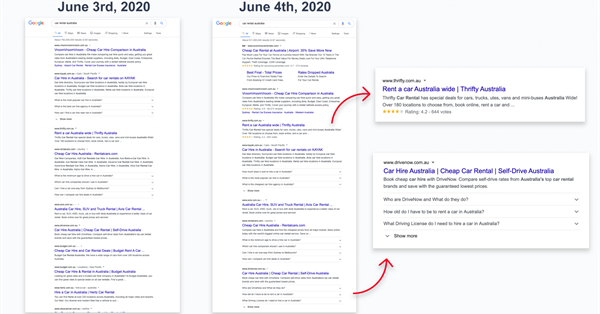 Google to begin creating advanced snippets for master pages