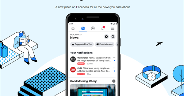 Facebook launched a new section News for all users in the US