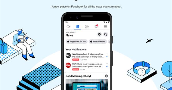 Facebook запустил новый раздел News для всех пользователей в США
