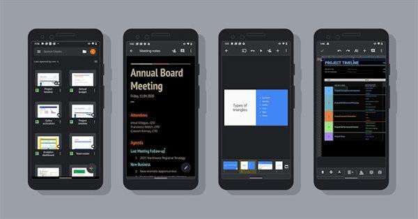 Приложения Google Docs для Android получили тёмную тему