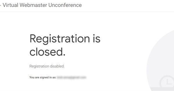 Места на Google Virtual Webmaster Unconference уже закончились