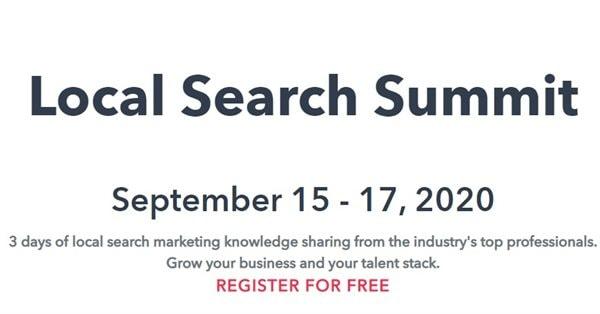 15-17 сентября пройдёт онлайн-конференция Local Search Summit