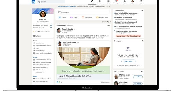 LinkedIn запускает крупный редизайн с «историями» и улучшенным поиском