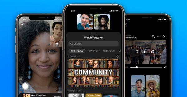 В Facebook Messenger появилась возможность совместного просмотра видео