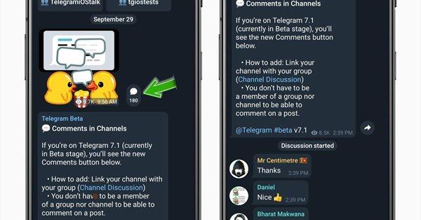 Telegram тестирует комментарии к постам