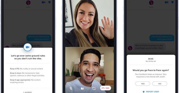 Tinder запустил функцию видеочатов по всему миру