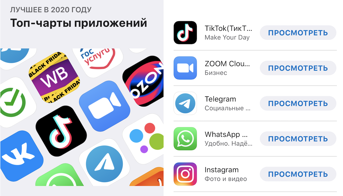 TikTok возглавил рейтинг самых популярных бесплатных приложений в AppStore