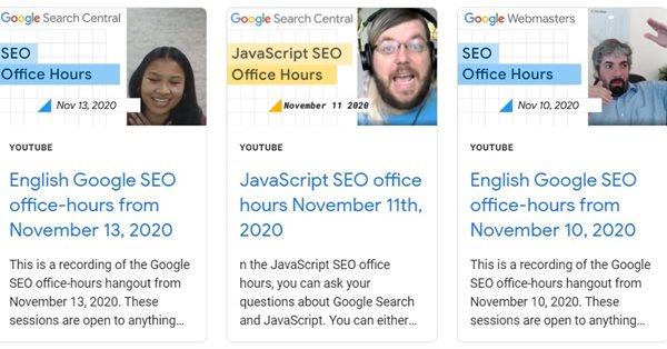 Google опубликовал руководство по получению помощи через видеовстречи для вебмастеров
