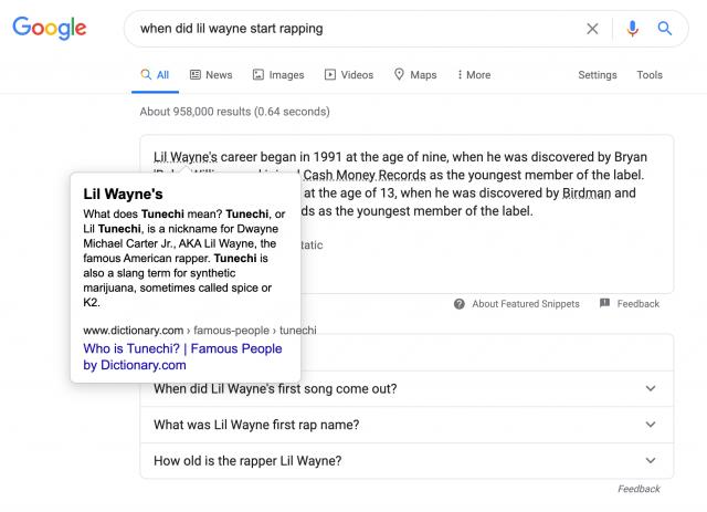 Google тестирует избранные сниппеты со ссылками на другие сайты