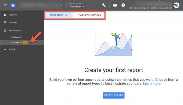 В Google Merchant Center можно создавать пользовательские отчёты об эффективности