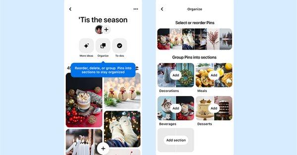 Pinterest обновил функционал досок