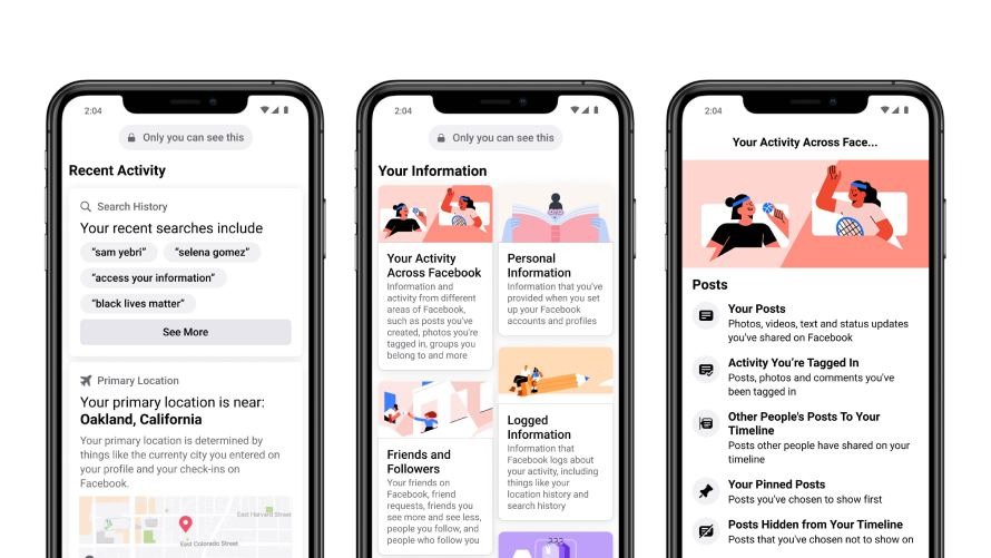 Facebook улучшил инструмент «Просмотр информации о вас»