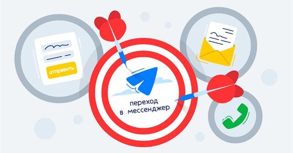 Яндекс.Метрика позволила отслеживать переходы с сайта в мессенджер