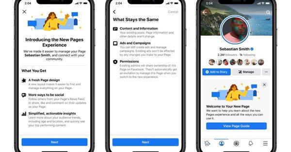 Facebook представил новую версию публичных страниц