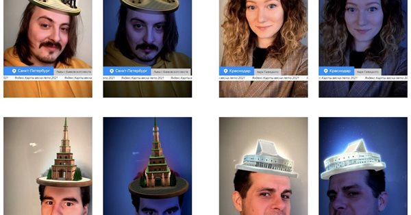 Яндекс.Карты создали коллекцию AR-масок с архитектурными символами городов