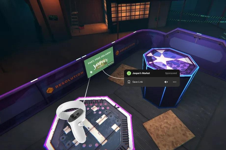 Facebook начнет показывать рекламу в приложениях для Oculus Quest
