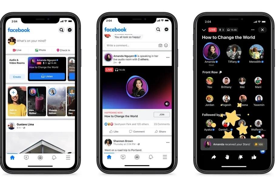 Facebook начал запуск своего конкурента Clubhouse