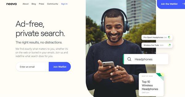 Поисковик Neeva от бывших сотрудников Google стал доступен в США