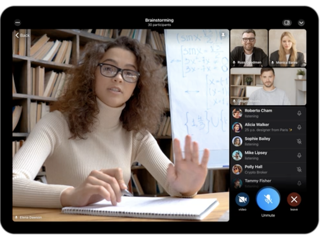 Telegram запустил групповые видеочаты