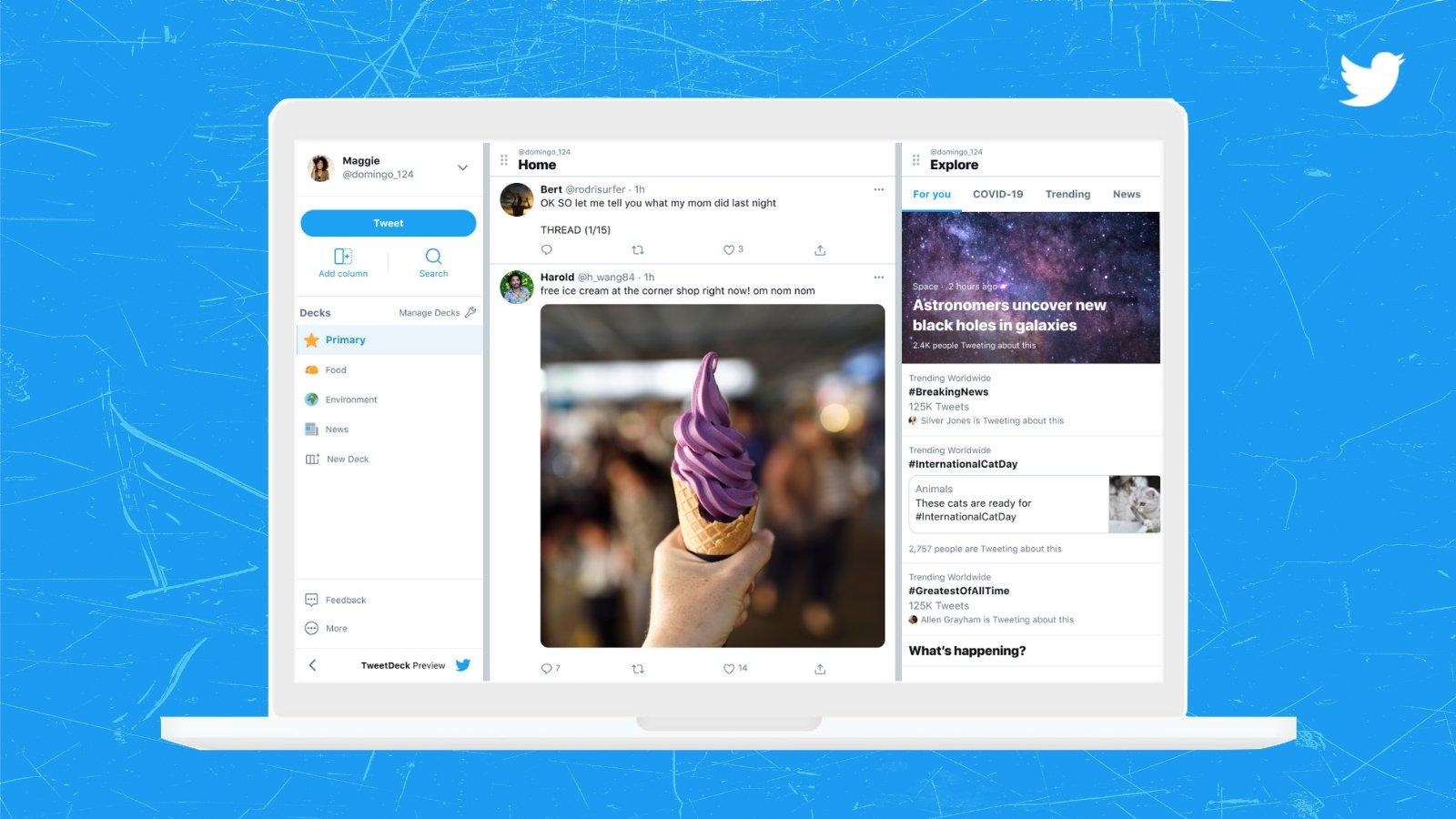 Twitter запустил превью нового интерфейса TweetDeck