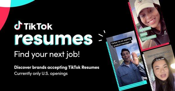 TikTok запустил возможность создания резюме внутри приложения