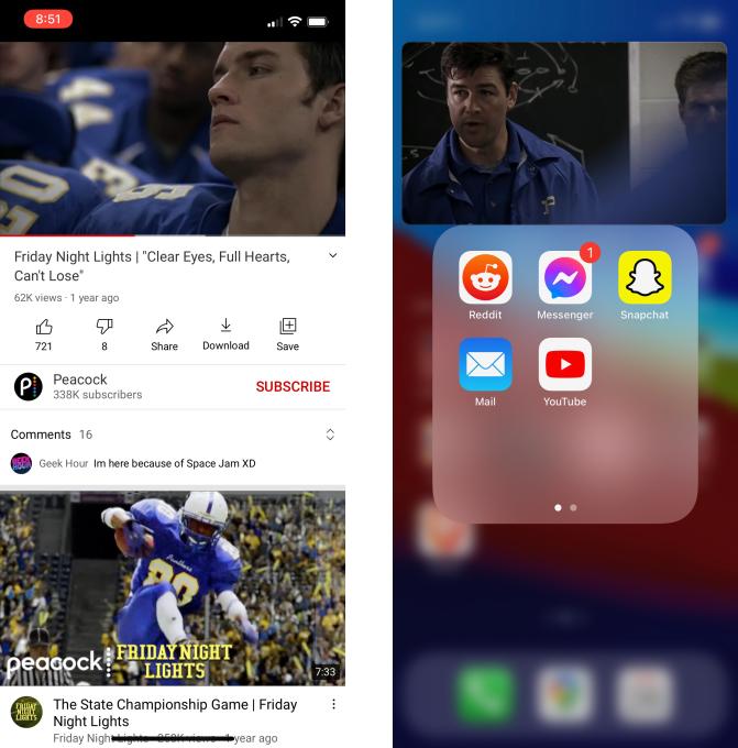 YouTube запускает режим «картинка в картинке» для пользователей iOS