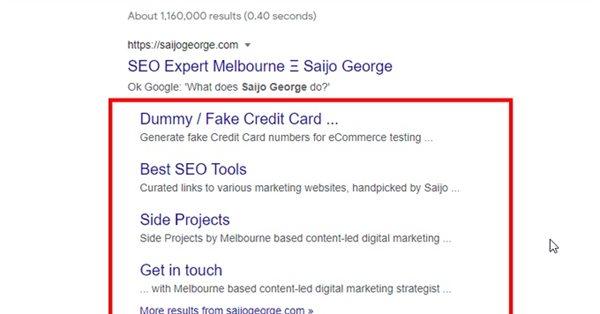 Google тестирует новый дизайн блоков с быстрыми ссылками сайтов