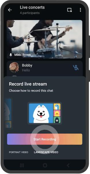 В новой версии Telegram появилась запись видеотрансляций